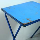 table pliante metal vintage gain de place