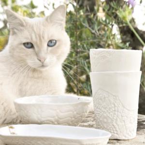 mise en scene ceramique, petite tasse, myriam ait amar