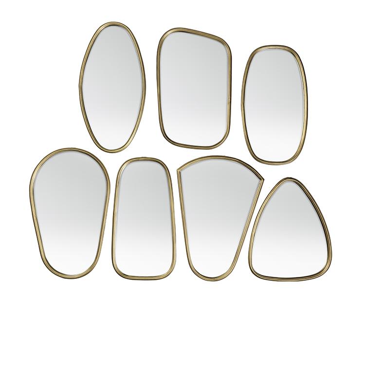 Miroir asymetrique chez les voisins for Miroir laiton
