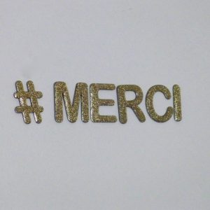 lettres decoratives merci