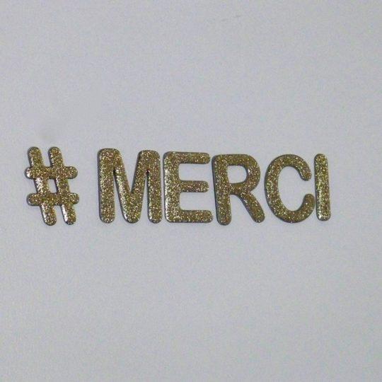 lettres decoratives merci