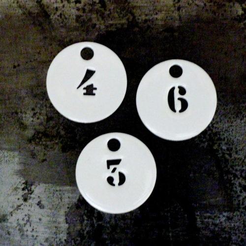 Jeton rond numéroté – CHEZ les VOISINS