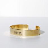 bracelet gravé large