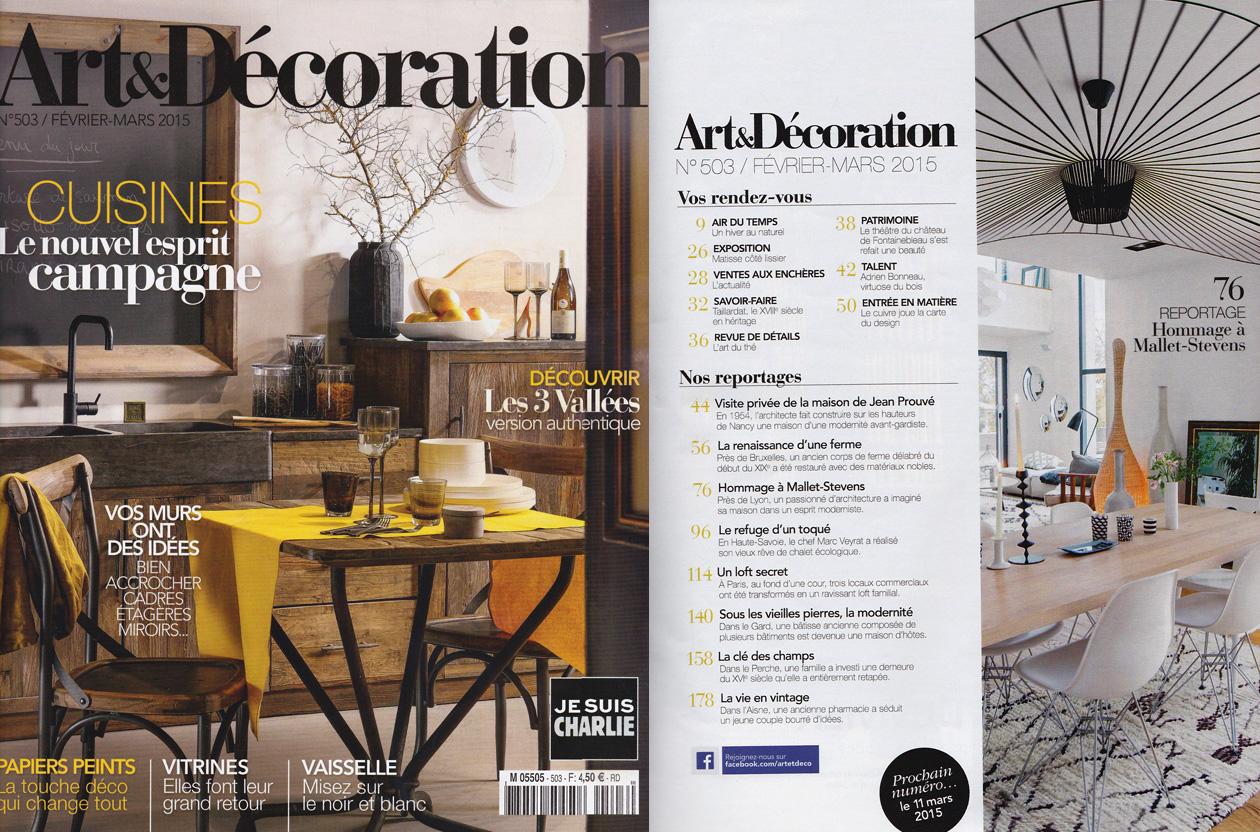 """""""Art & Décoration"""" – Février/Mars 2015"""