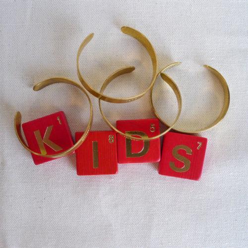 Bracelet en laiton gravé enfant