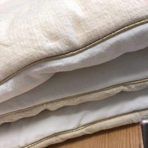 COVER SOFA – 180 x 80 cm blanc craie / écru