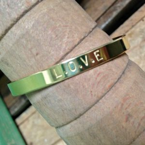 bracelet laiton message