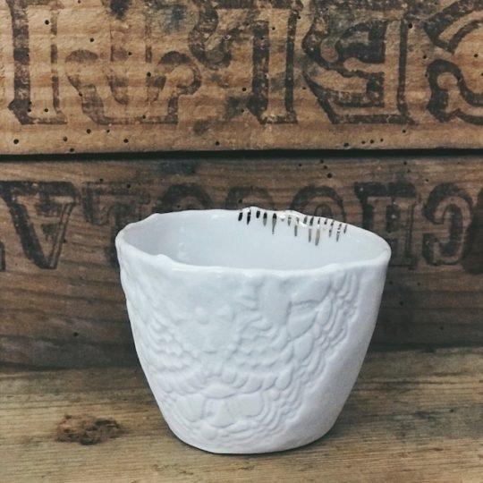 tasse expresso Myriam Ait Amar porcelaine blanche