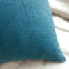 Coussin en lin bleu prusse