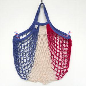 grand sac filet avec petites anses, unique, pratique, coloré, fait en normandie