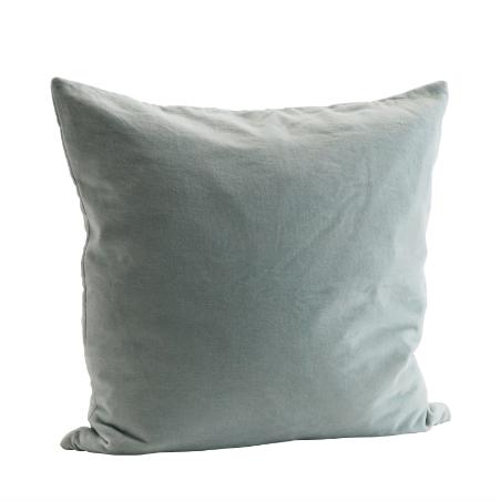 coussin en velours carr vert rose gris chez les voisins. Black Bedroom Furniture Sets. Home Design Ideas