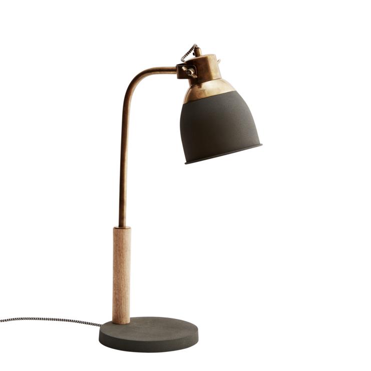 lampe de bureau grise et laiton chez les voisins. Black Bedroom Furniture Sets. Home Design Ideas