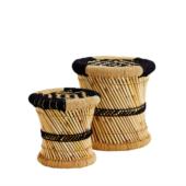 tabouret bambou et corde madam stoltz