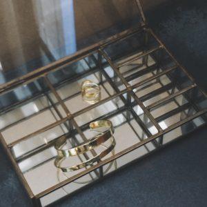 petite boite bijoux laiton et verre