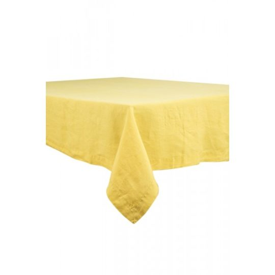 Nappe en lin lave, differentes couleur, curry, Harmony textile