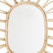 Miroir oval en rotin édité par Madam Stoltz