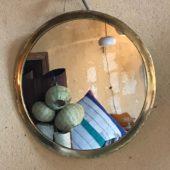 miroir rond metal doré artisanat marocain