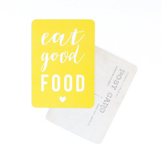 carte postale EAT GOOD FOOD cinq mai