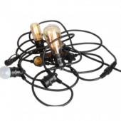 guirlande lumineuse de guinguette cable noir