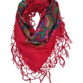 grand foulard folk bohème rouge pays slaves