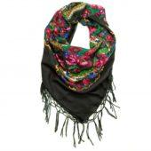 grand foulard folk bohème noir pays slaves
