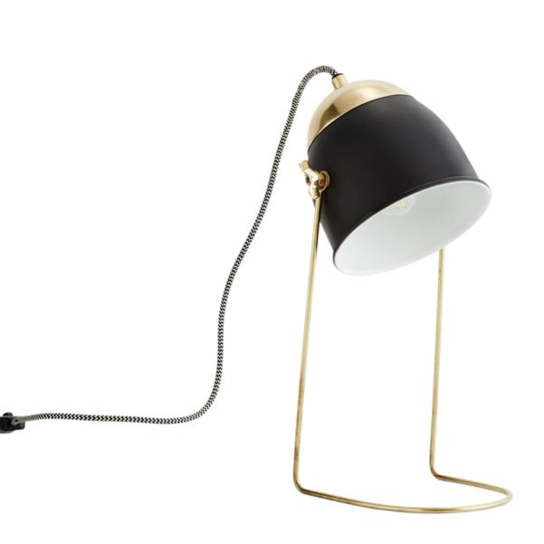 lampe laiton et noir ou off white chez les voisins. Black Bedroom Furniture Sets. Home Design Ideas