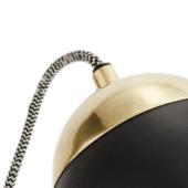 Lampe de bureau Madam Stoltz, laiton et noir ou blanc