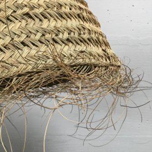 suspension cylindrique conique en osier naturel, en smar naturel, artisanat marocain