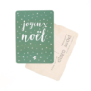 carte postale JOYEUX NOEL CINQMAI vert