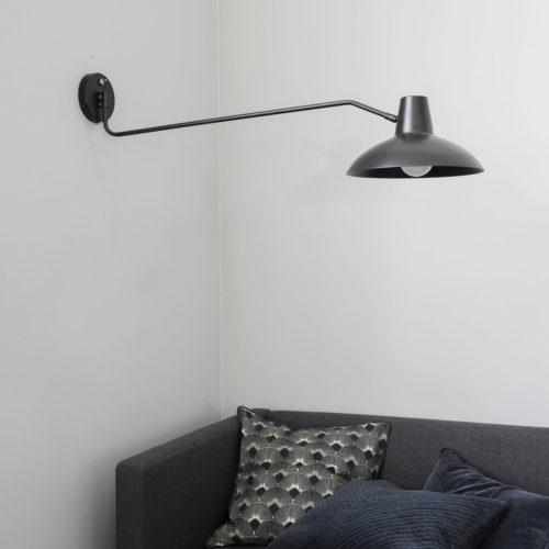 Applique murale bras XL en métal noir