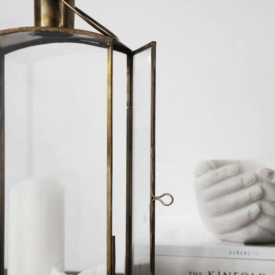 lanterne en laiton et verre rectangulaire House Doctor