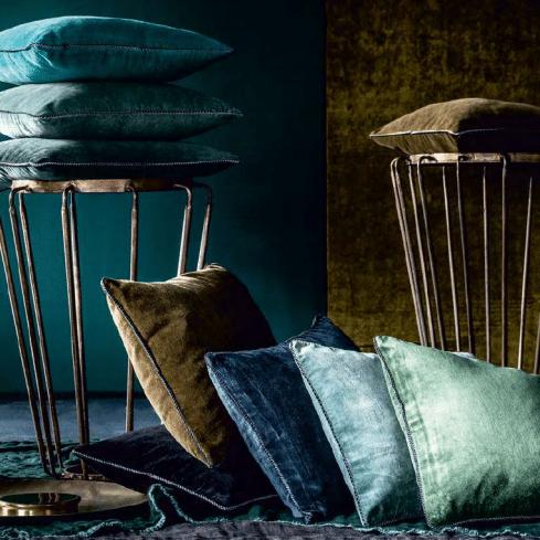 coussin velours dehli harmony textiles
