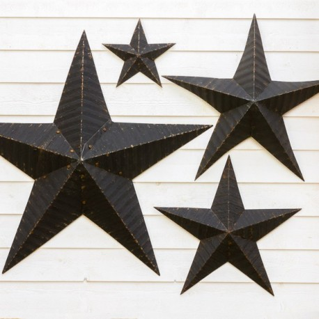 étoile Amish de couleur en zinc