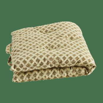 Matelas 60×100 – beige et bronze