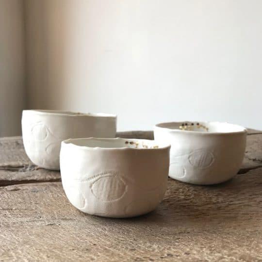 Bol MOON Myriam Ait Amar en porcelaine blanche faits main