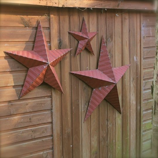 étoile amish métal rouge
