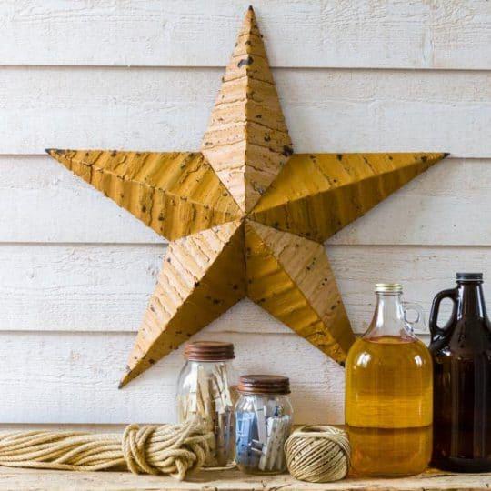 étoile amish métal jaune 56 cm