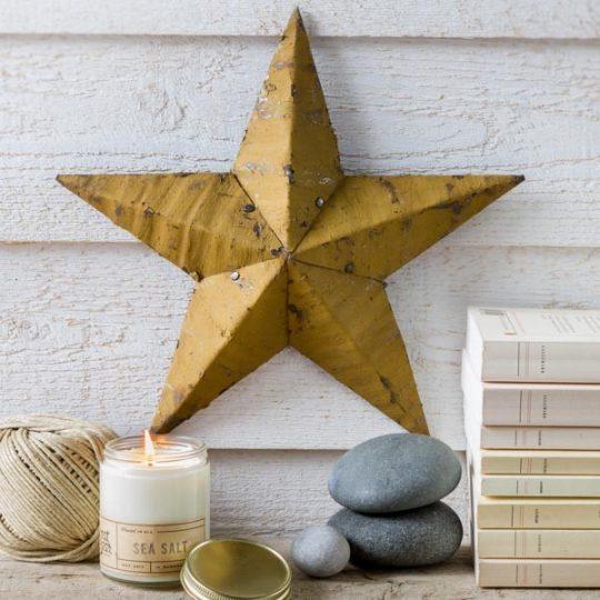 étoile amish jaune
