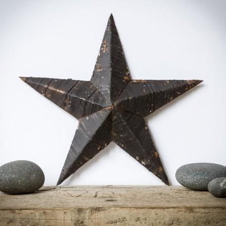 étoile amish métal noir 30 cm