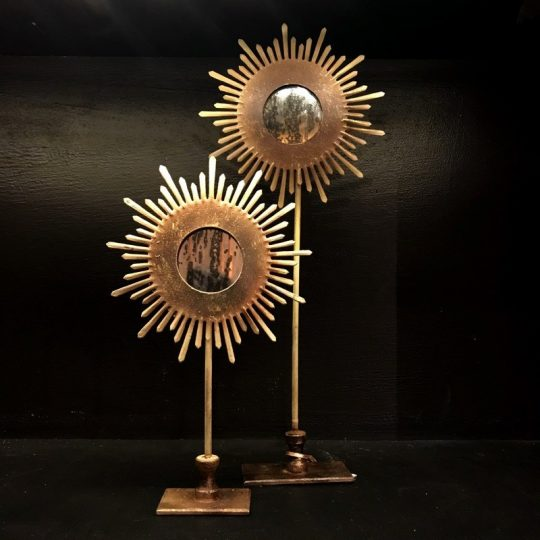 miroir soleil sur pieds