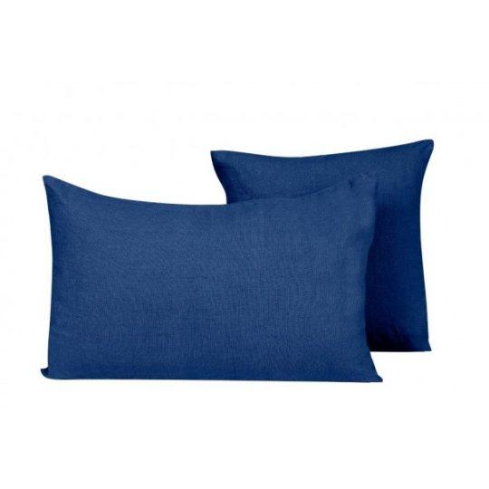 coussin lin propriano harmony indigo bleu