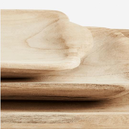 plateau rectangulaire en bois Madam Stoltz