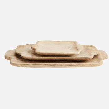 Plateaux rectangulaires en bois