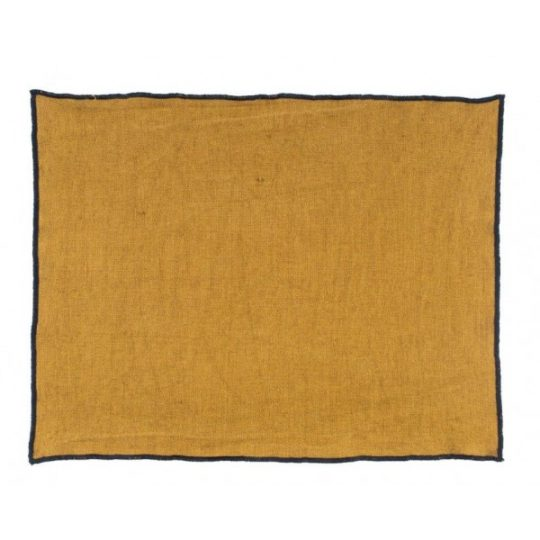 set de table en lin Harmony textile, finition overlock