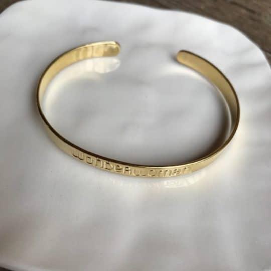 bracelet jonc en laiton wonderwoman
