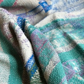 Plaid indienne Kantha vintage