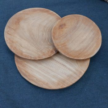 Lot de 3 assiettes en bois