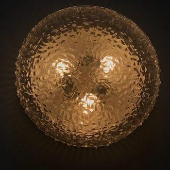 Applique, plafonnier en verre vintage