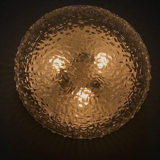 applique plafonnier vintage en verre