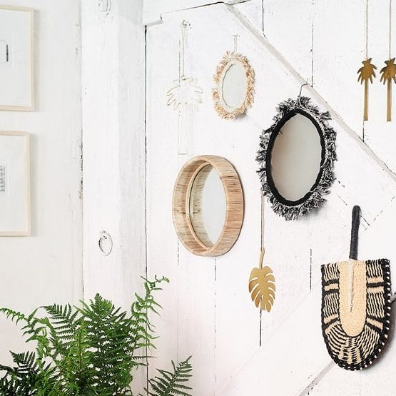 Petit Miroir Rond En Bambou Chez Les Voisins